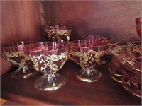 Grouping of Antique Painted Barvarian Glass