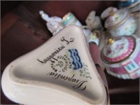 Various Porcelain Creamer an Sugar Bowl with Porce