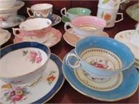 Grouping of Misc. Porcelain Tea Cups and Saucers