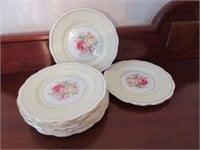 "Set of ROYAL ALBERT ""Milady"" Porcelain Sandwich Pl"
