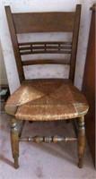Antique Wooden Farmhouse Chair