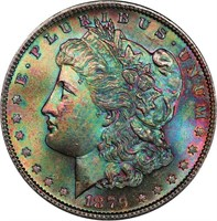 $1 1879-S  PCGS MS65 CAC NORTHERN LIGHTS