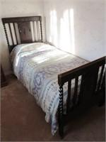 Antique Victorian Barley Twist Single Bed Frame