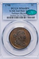 1C 1798 2ND HAIR STYLE PCGS MS64BN CAC
