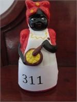Antique Aunt Jemima Ceramic Bell Figurine