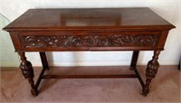 Fantastic Early Wooden Serving/Hall Table