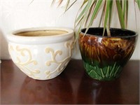 Pair of Nice Decorative Ceramic Planters