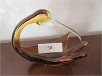 Free Form Art Glass Bird Centrepiece