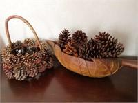 Pair of Pinecone Decorative Items