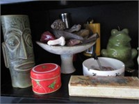 Grouping of Various Smalls, Porcelain, Glass and H