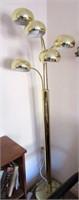 Retro Brass Mult-Arm Standing Lamp