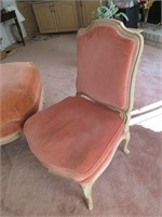 Victorian Style Upholstered Parlour Chair with Mat