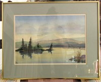 Framed and Matted LES SMITH Watercolour