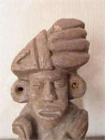 Hand Crafted Terra Cotta Tribal Figural Sculpture