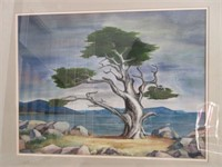 Framed and Matted Original LES SMITH Watercolour