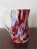 Early Victorian Art Glass Pitcher