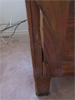 Early Double Drawer Oak Filing Cabinet