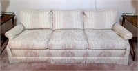 Vintage Cream Coloured Upholstered Sofa