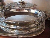 Grouping of Plated Silver Servingware