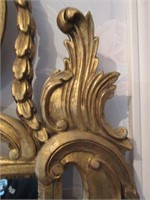 Ornate Gilded Antique Hall Mirror