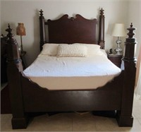 Stunning Antique Solid Wooden Queen Size Bedframe
