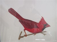 Framed LES SMITH Watercolour Bird Paintings