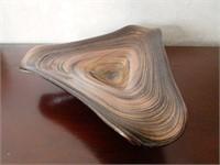 Free Form Metallic Art Glass Centrepiece