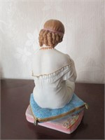 Lovely Handpainted Porcelain Figural Piece