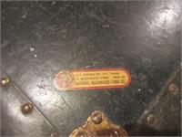 Vintage Metal Steamer Trunk
