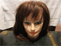 Vintage Mannequin Head with Wig