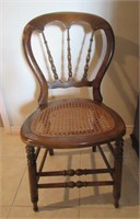 Antique Canned Balloon Back Chair