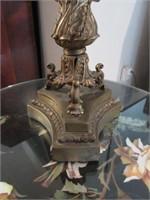 1951 Antique Gilt Brass Candelabra