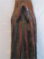 Antique Handcarved Wooden Religious Figurine