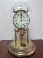 Vintage KUNDE Anniversary Clock with Glass Dome