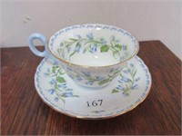 """Porcelain SHELLEY """"Harebell"""" Tea Cup and Saucer"""