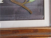 Framed and Matted Small LES SMITH Watercolour
