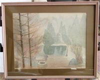 Framed Original LEE SMITH Watercolour