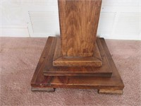 Solid Wooden Plant Stand- 3' Tall