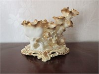 Early Porcelain MOORE BROS. Candle Holder