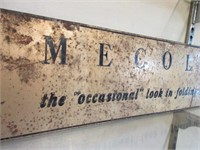 Mecoline Steel Furniture Advertising Sign