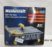 "Mastercraft wet tile saw 4.5"" new in box"