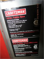 "Craftsman 10"" table saw 1.5""HP with fence, mitre"