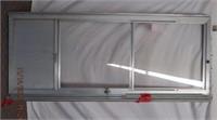 Aluminum screen door with frame work