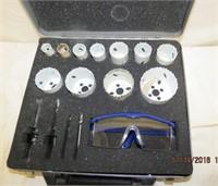 Mastercraft  hole saw set in steel case