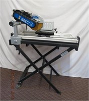 """Power Fist 10"""" wet tile saw with stand 2.5hp motor"""