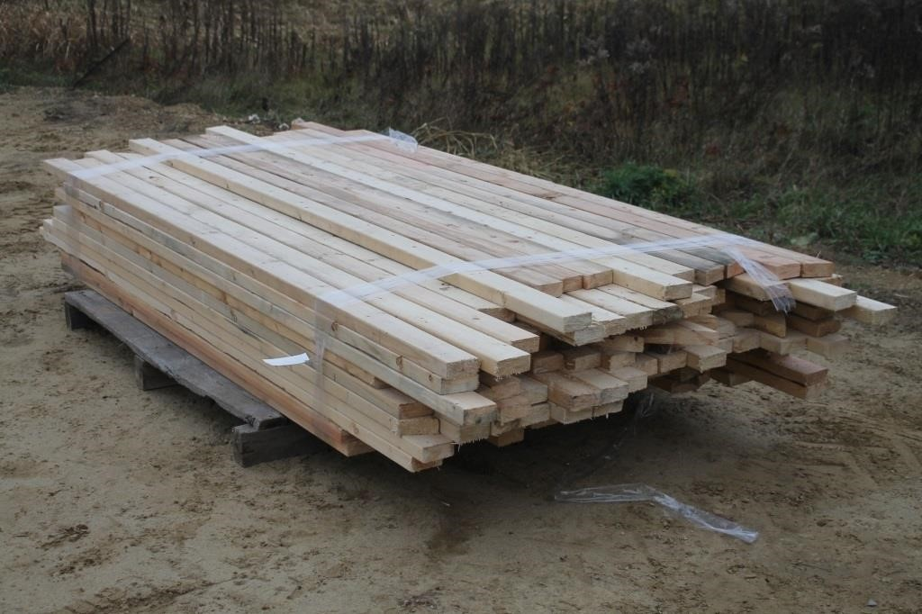 PALLET LOT OF 2X4 LUMBER, MOST ARE 8FT & 9FT LONG | SPENCER SALES