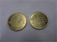 Pair of Hockey Coins