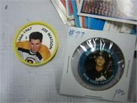 Hockey Coins and Hostess Cards Etc