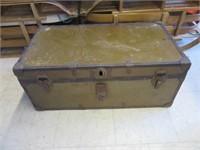 Cargo Style Antique Steamer Trunk
