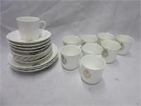Porcelain CROWN Chine Demitasse Set